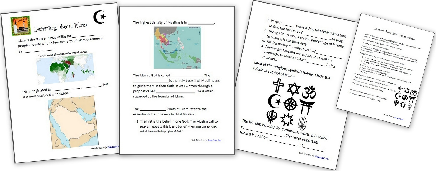 Learning About Islam - Free Worksheets And Resources For Kids - Free Printable Worksheets On Africa