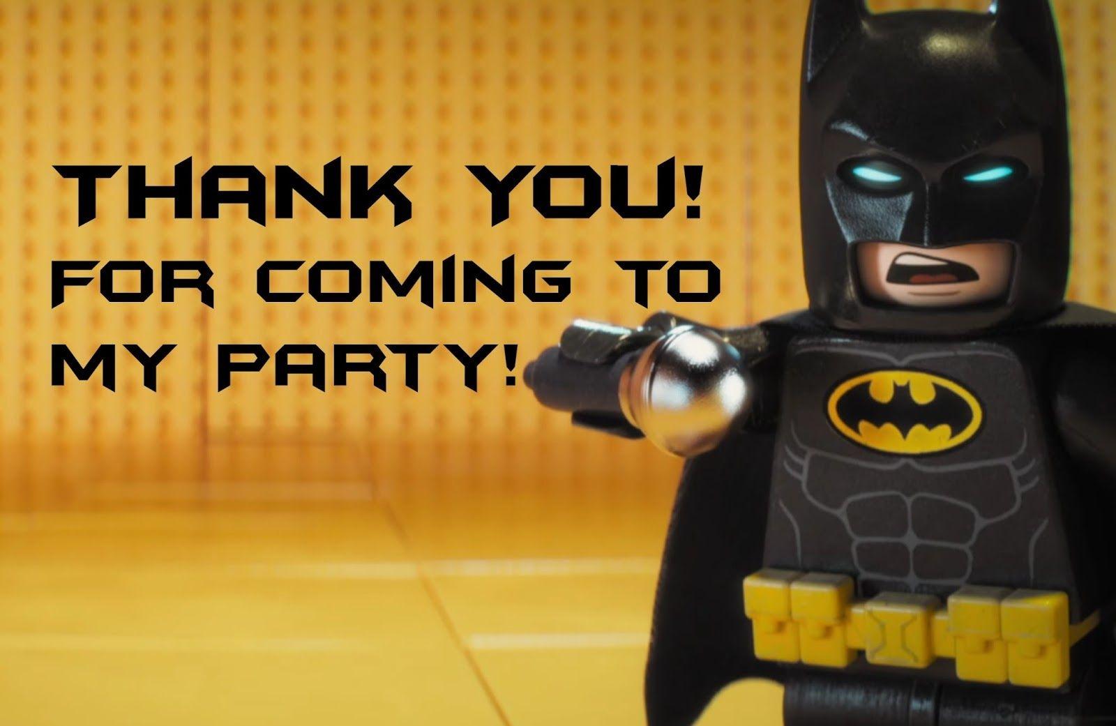 Lego Batman Thank You Cards | Lego Party | Pinterest - Feestje En Lego - Free Printable Lego Batman