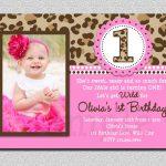 Leopard Birthday Invitation , 1St Birthday Party Invitation   Free Printable Cheetah Birthday Invitations