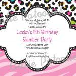 Leopard Print Birthday Invitation Cheetahcutiestiedyeboutique   Free Printable Cheetah Birthday Invitations
