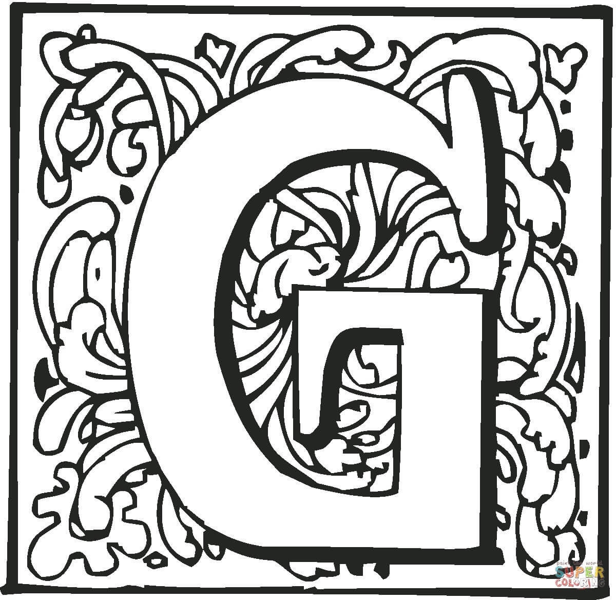 Letter G Coloring Pages | Free Coloring Pages - Free Printable Letter G Coloring Pages