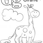 Letter G Is For Giraffe | Super Coloring | Alaphbet Crafts   Free Printable Letter G Coloring Pages