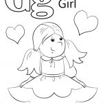 Letter G Is For Girl Coloring Page | Free Printable Coloring Pages   Free Printable Letter G Coloring Pages