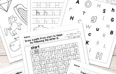 Letter H Worksheets – Alphabet Series – Easy Peasy Learners – Free Printable Letter Recognition Worksheets