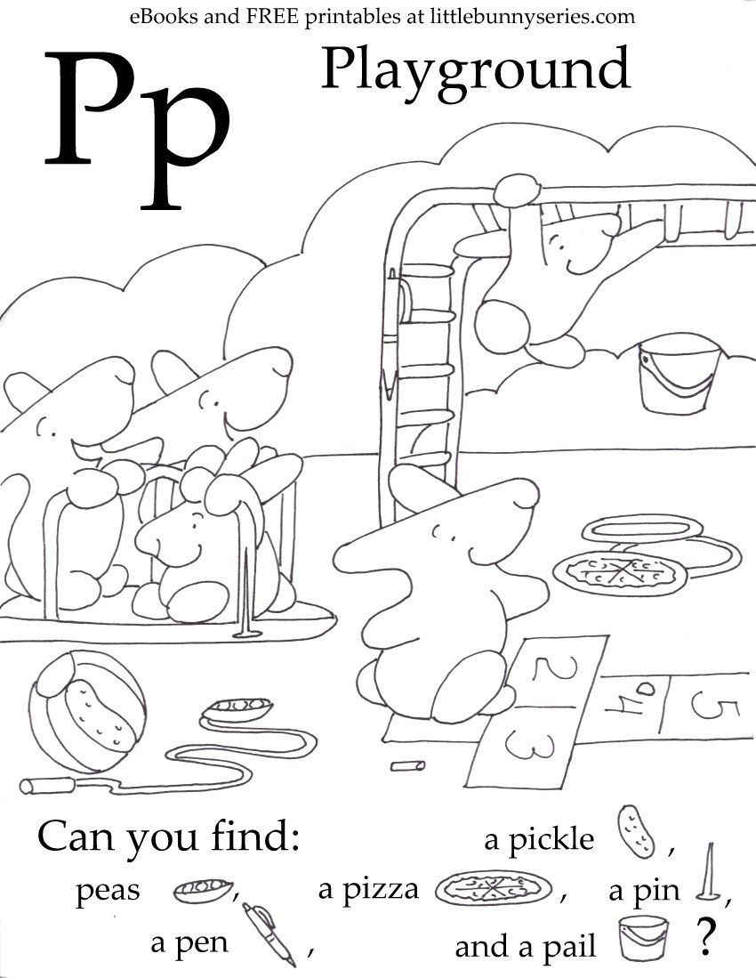 Letter P Seek And Find Pdf | Seek And Find | Free Preschool, Free - Free Printable Seek And Find