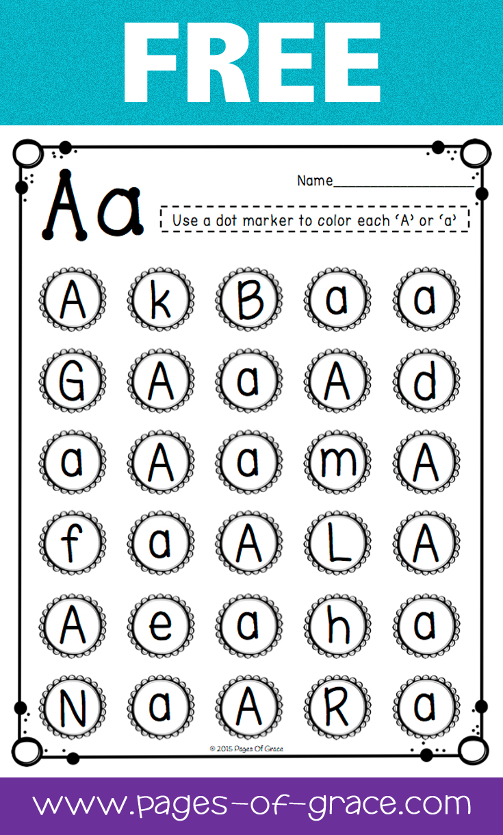 Letter Recognition | Pages Of Grace Resources | Teaching Letters - Free Printable Letter Recognition Worksheets