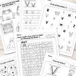 Letter V Worksheets   Alphabet Series   Easy Peasy Learners   Free Printable Letter Recognition Worksheets