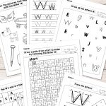 Letter W Worksheets   Alphabet Series   Easy Peasy Learners   Free Printable Letter Recognition Worksheets
