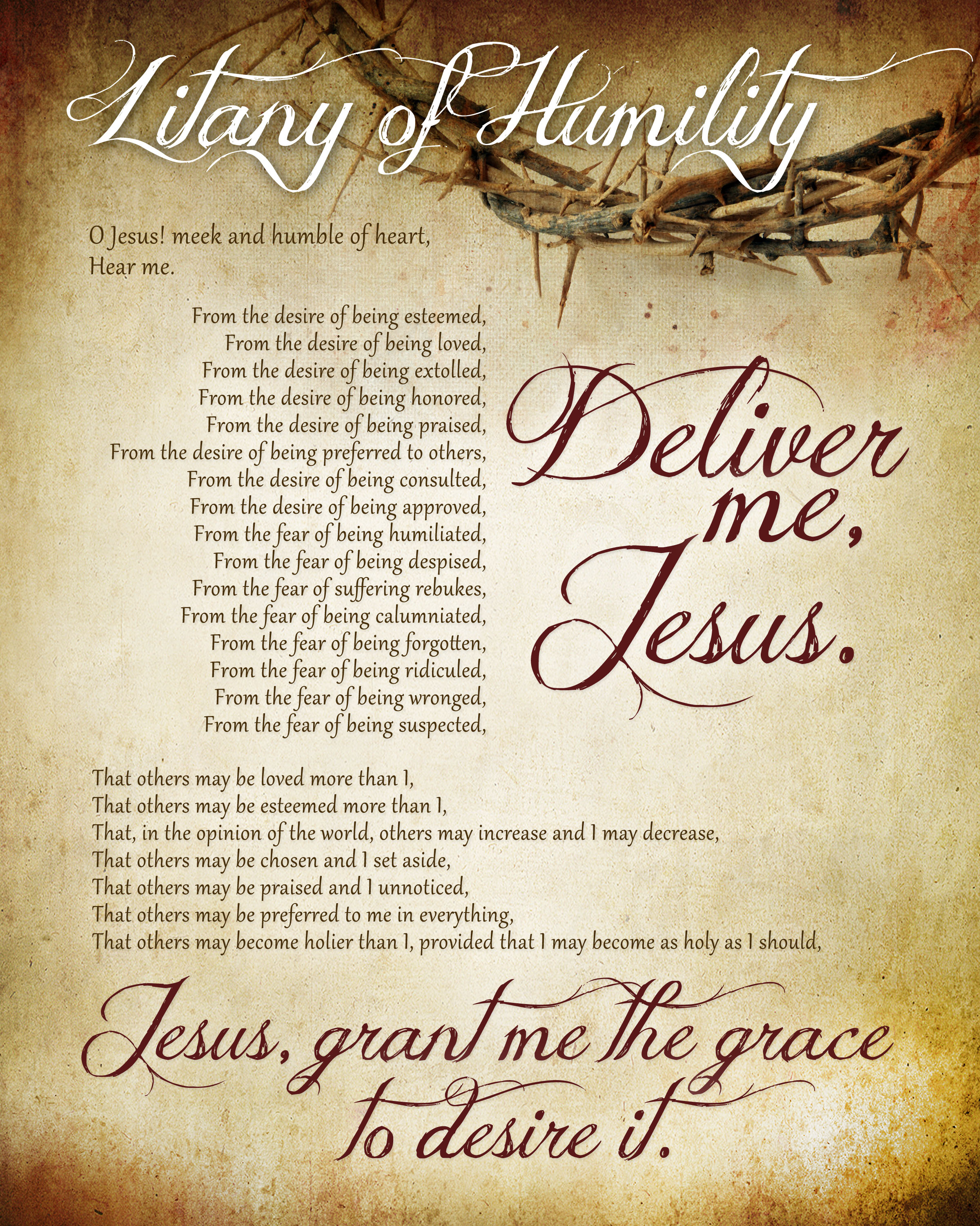 Litany Of Humility Free Printable - How To Nest For Less™ - Free Printable Catholic Prayer Cards