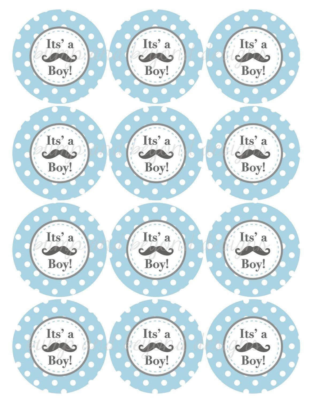 Little Man Mustache Baby Shower Free Printables | Baby Shower - Free Printable Baby Shower Decorations For A Boy