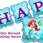 Little Mermaid Free Party Printables   Buscar Con Google | Lil   Free Printable Little Mermaid Birthday Banner