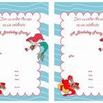Little Mermaid Free Printable Birthday Party Invitations | Birthday   Mermaid Birthday Invitations Free Printable
