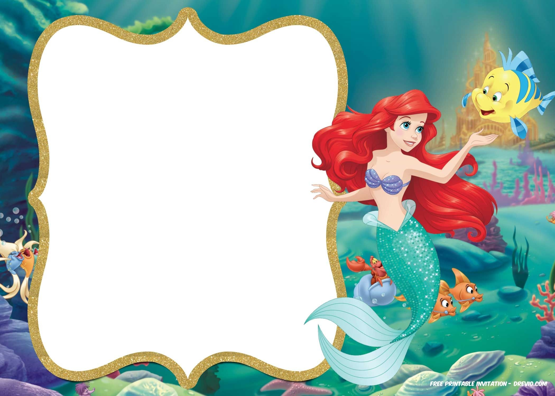 Little Mermaid Royal Invitation | Free Printable Birthday - Free Little Mermaid Printable Invitations