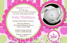 Little Princess Baby Girl Shower Invitation Printable · Just Click – Free Printable Princess Baby Shower Invitations