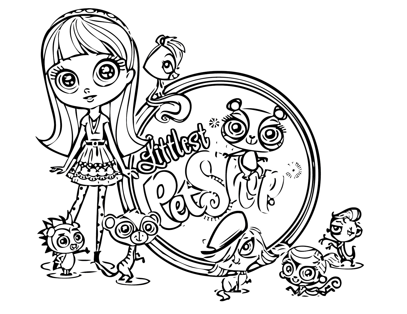 Littlest Pet Shop Coloring Pages - Best Coloring Pages For Kids - Littlest Pet Shop Free Printable Coloring Pages