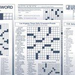 Los Angeles Times Sunday Crossword Puzzle | Tribune Content Agency   Free La Times Crossword Printable