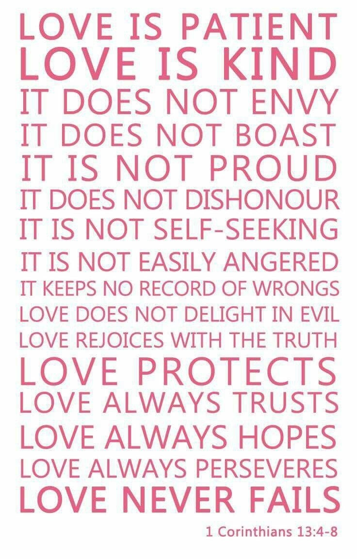 Love (1 Corinthians 13:4-8) | Godly Marriages | Favorite Bible - Love Is Patient Free Printable