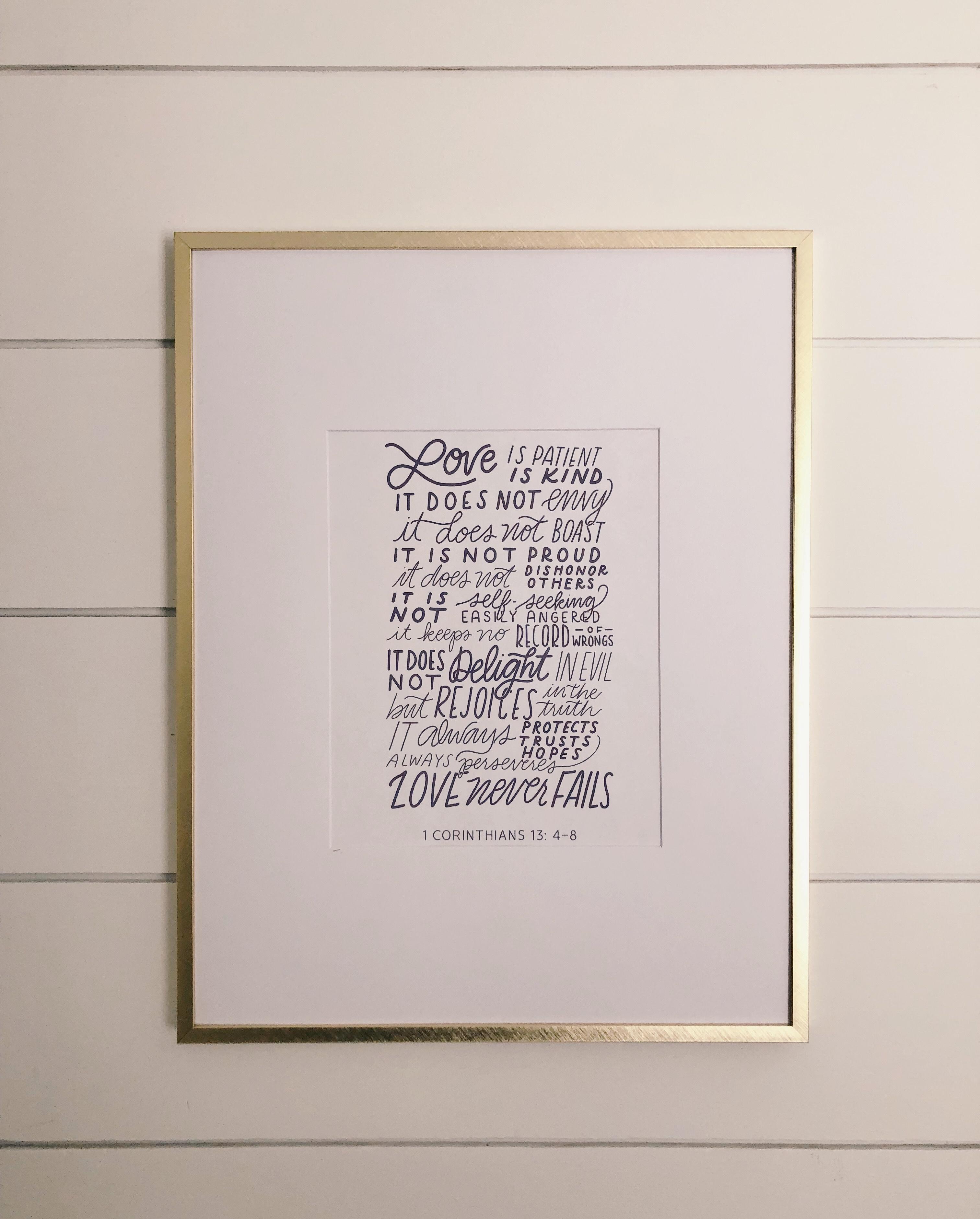 Love Is Patient, Love Is Kind | Free Printable | Harbor + Pine - Love Is Patient Free Printable