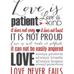 Love Is Patient Subway Art Printable {1 Corinthians 13} | Holiday   Love Is Patient Free Printable