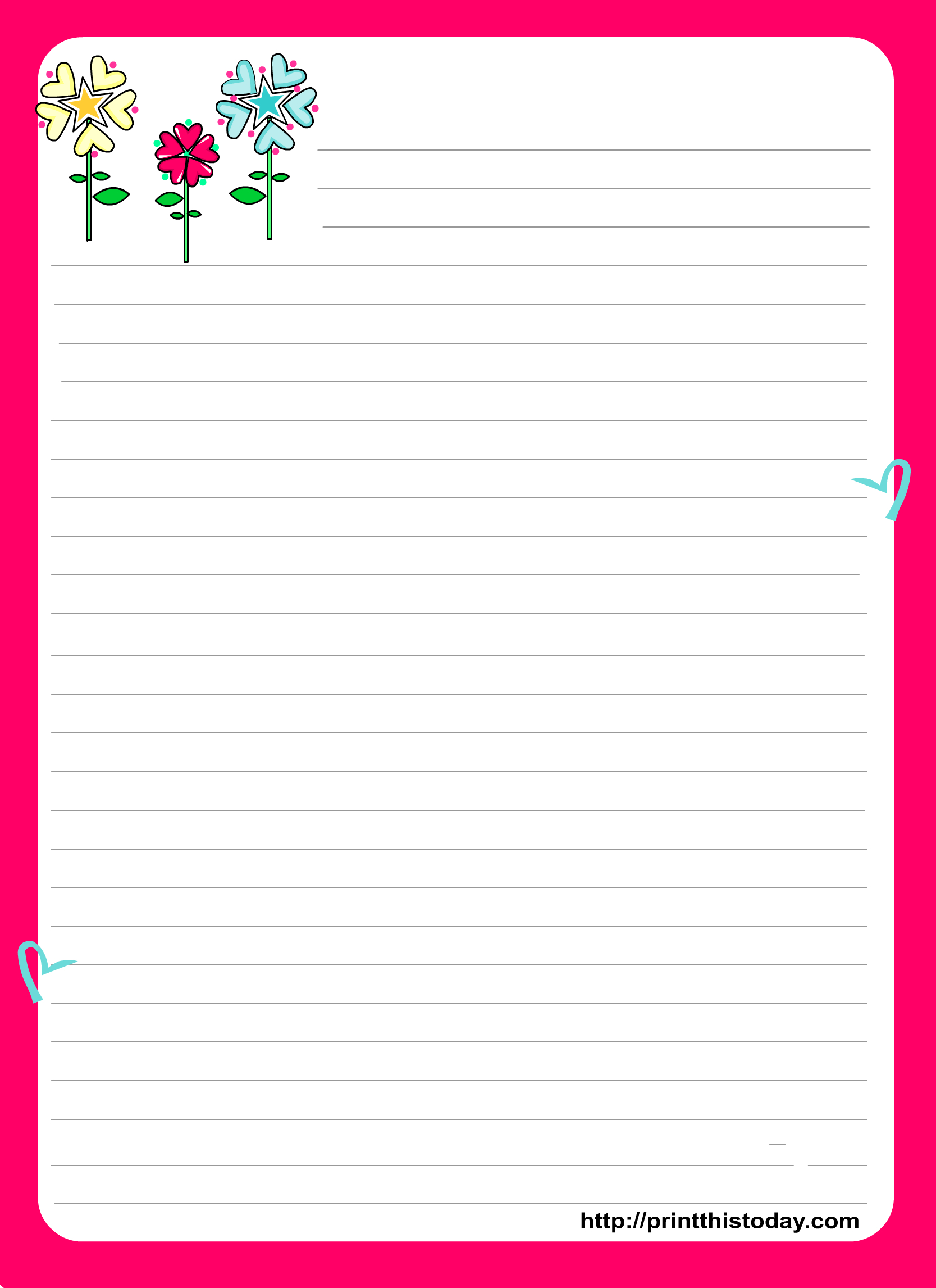 Love Letter Pad Stationery | Stationery | Free Printable Stationery - Free Printable Love Letter Paper