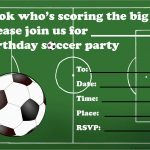 Lovely Football Birthday Party Invitation Templates Free | Best Of   Free Printable Soccer Birthday Invitations