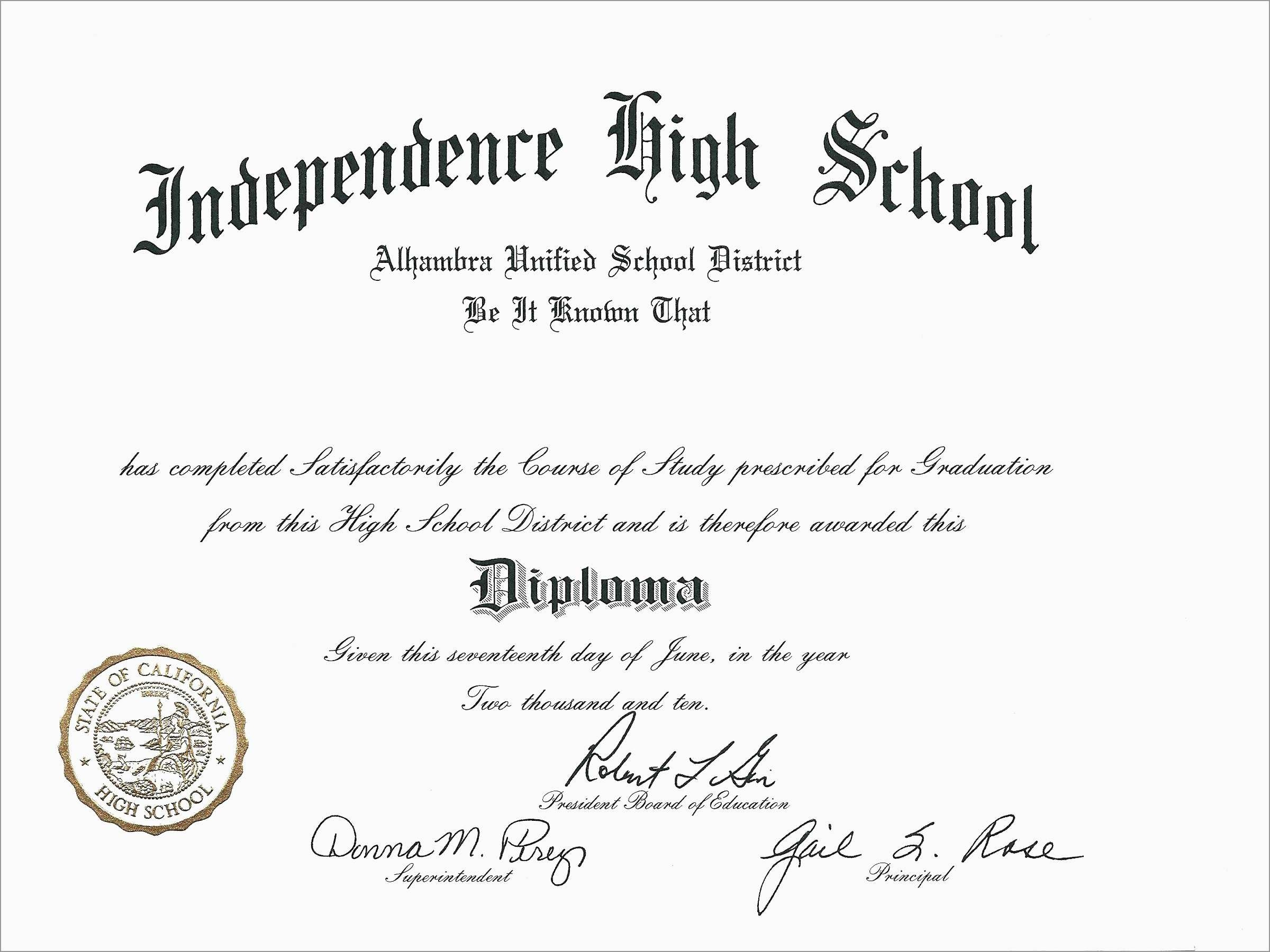Lovely Free Fake High School Diploma Templates | Best Of Template - Free Printable High School Diploma Templates