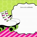 Luxury Skating Party Invitation Template Free | Best Of Template – Free Printable Roller Skate Template