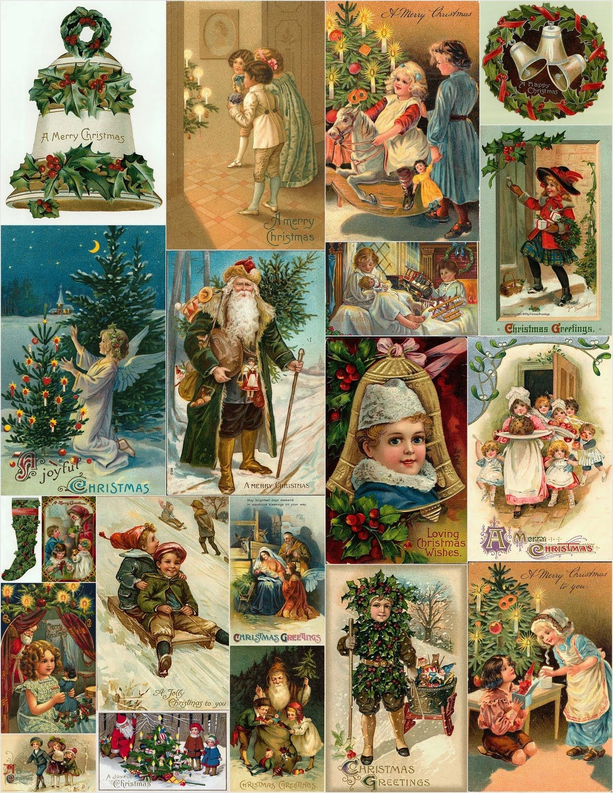 Magic Moonlight Free Images: Christmas Collages For You! | Scraps Of - Free Printable Christmas Photo Collage