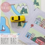 Make A Mini Road Map Busy Bag   Free Printable | The Diy Mommy   Free Printable Maps For Kids