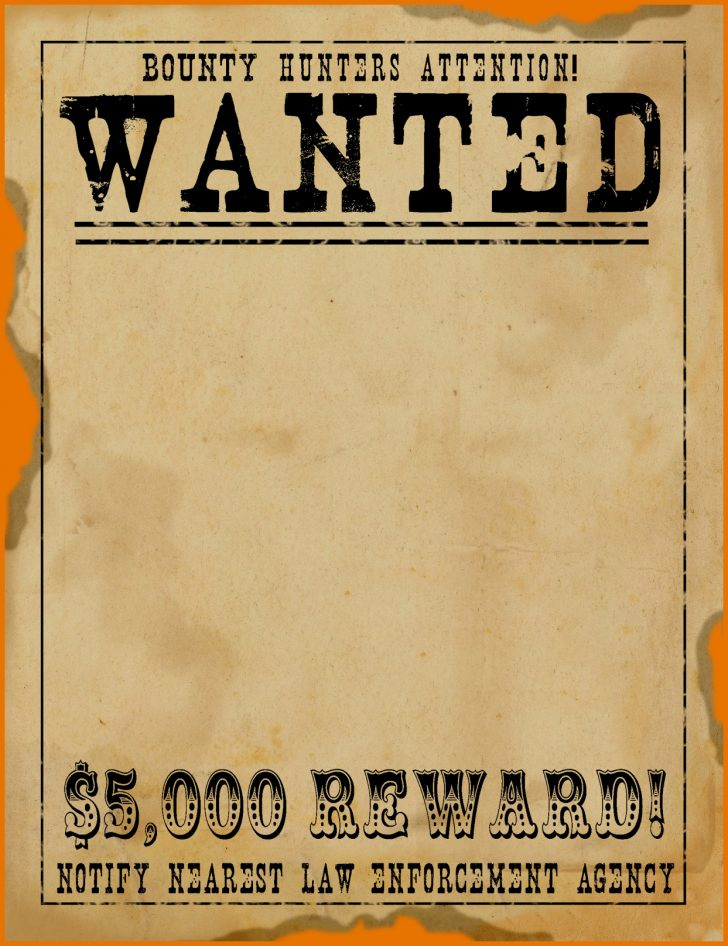 Wanted Poster Printable Free