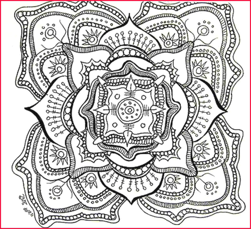 Mandala Print Coloring Pages   Coloring Pages - Free Printable Coloring Book Pages For Adults