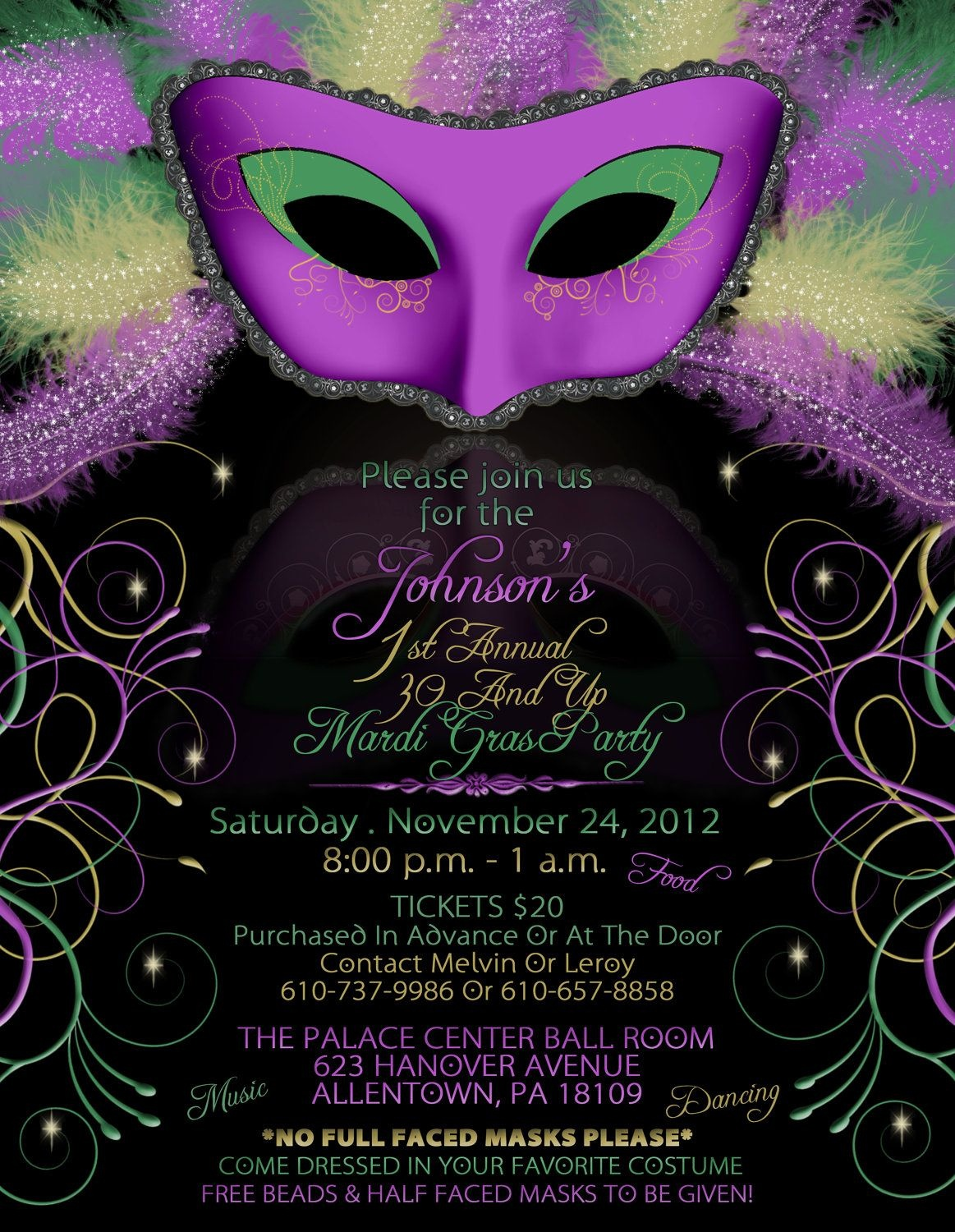 Mardi Gras Birthday Party Invitations | Mardi Gra | Mardi Gras Party - Free Printable Mardi Gras Invitations