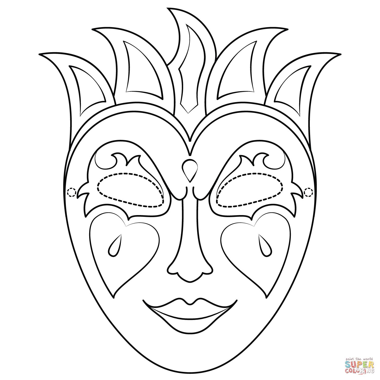 Mardi Gras Mask Coloring Page   Free Printable Coloring Pages - Free Printable Mardi Gras Masks