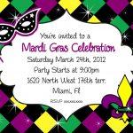 Mardi Gras Party Invitations   Cloudinvitation | Mardi Gras   Free Printable Mardi Gras Invitations