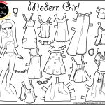 Marisole Monday: Modern Girl In Black & White | Coloring Pages   Free Printable Paper Dolls Black And White