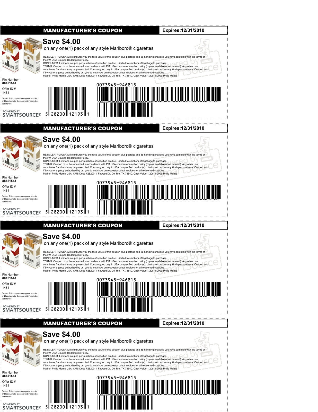 Marlboro Cigarettes Coupon Codes : Velveeta Mac And Cheese Coupon 2018 - Free Pack Of Cigarettes Printable Coupon