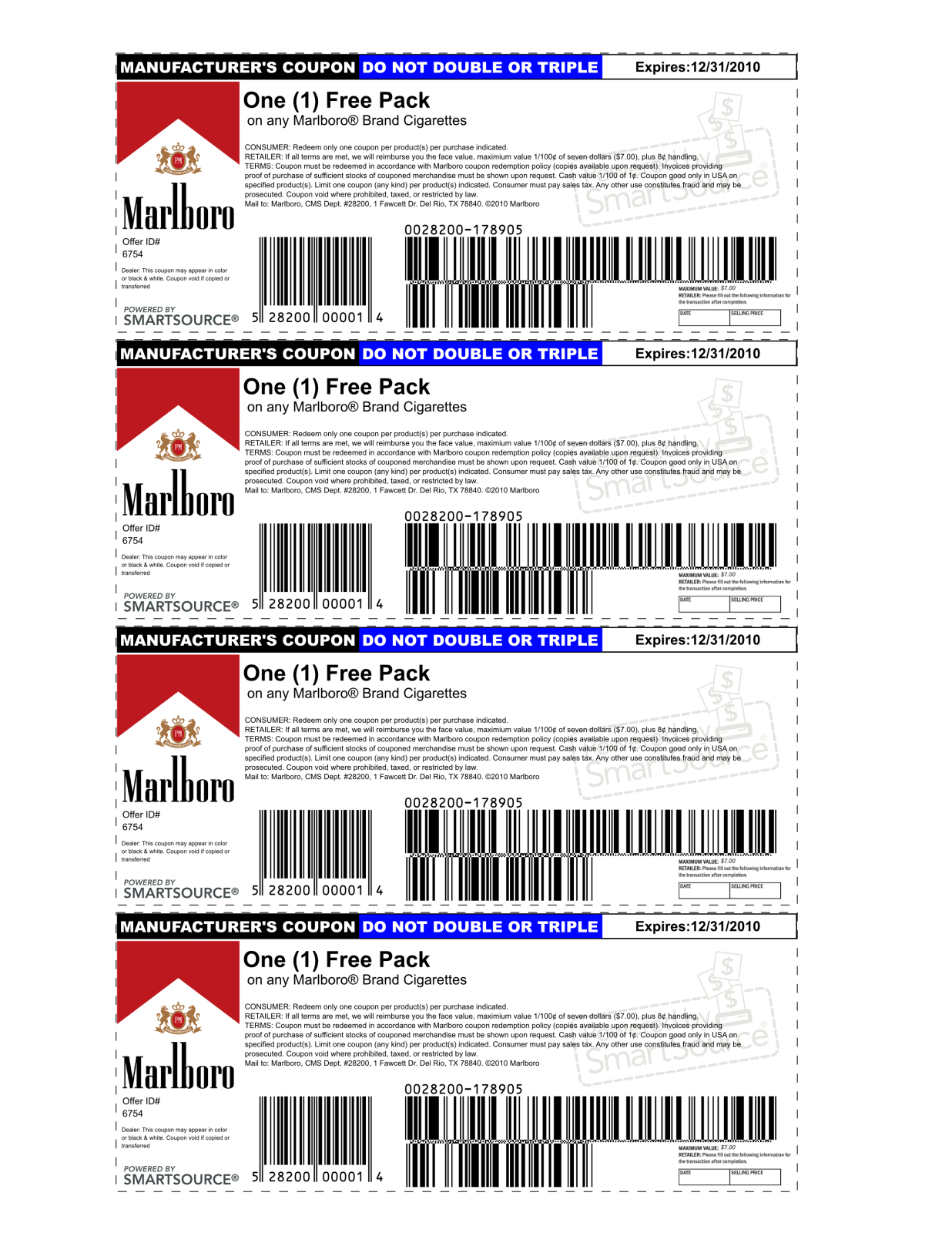 Marlboro Coupons Printable 2013 | Is Using A Possibly Fake Coupon - Free Pack Of Cigarettes Printable Coupon