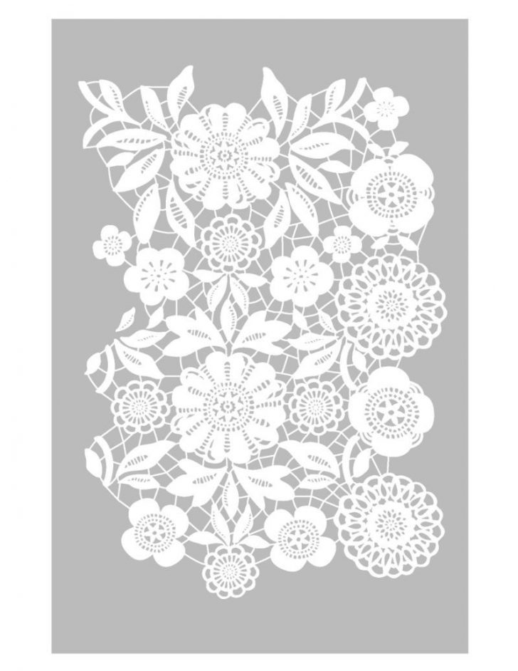 Free Printable Lace Stencil