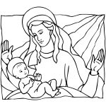 Mary And Baby Jesus Coloring Page   Free Printable Coloring Pages   Free Printable Christmas Baby Jesus Coloring Pages