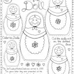 "Matryoshka Doll"" Printable For ""around The World"" Culture Study   Free Printable Paper Dolls From Around The World"