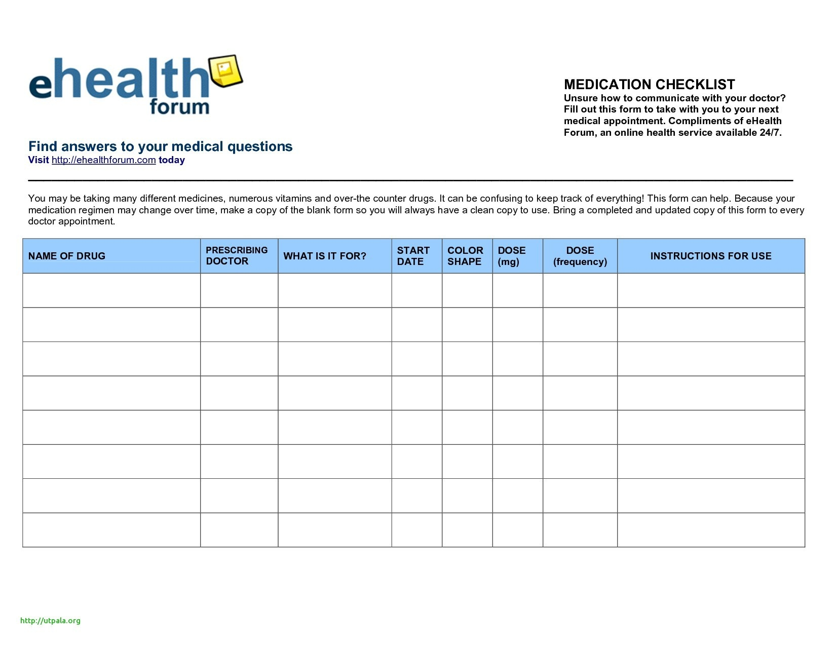 Medication Schedule Template Best Of Printable Medication List - Free Printable Medication List Template