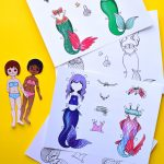 Mermaid Paper Dolls: Printable Template | Adventure In A Box   Free Printable Paper Dolls From Around The World
