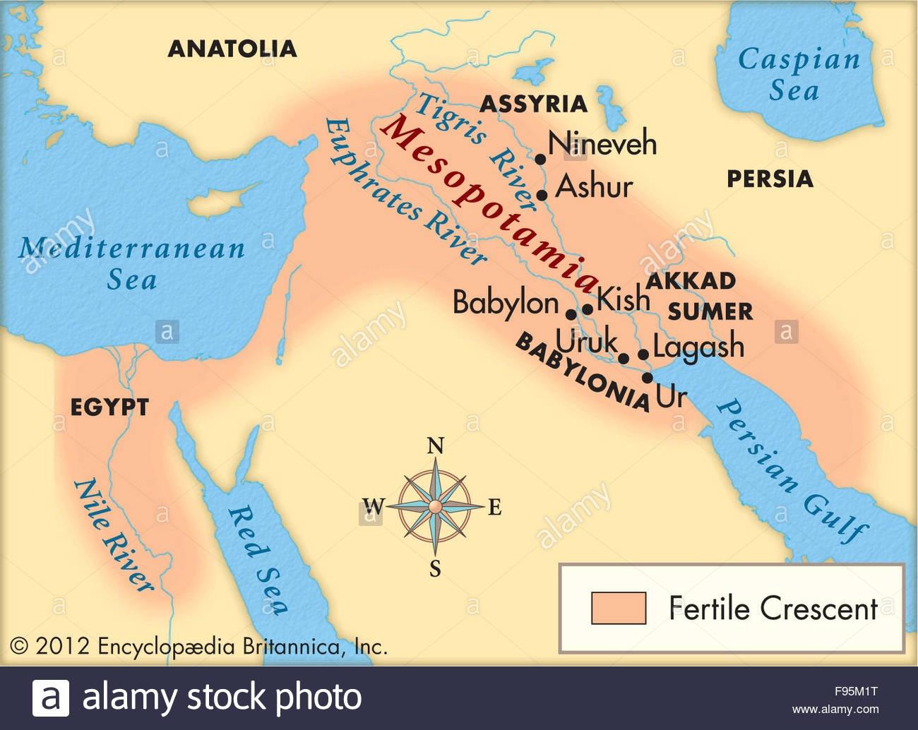 Mesopotamia Stock Photos & Mesopotamia Stock Images - Alamy - Free Printable Map Of Mesopotamia