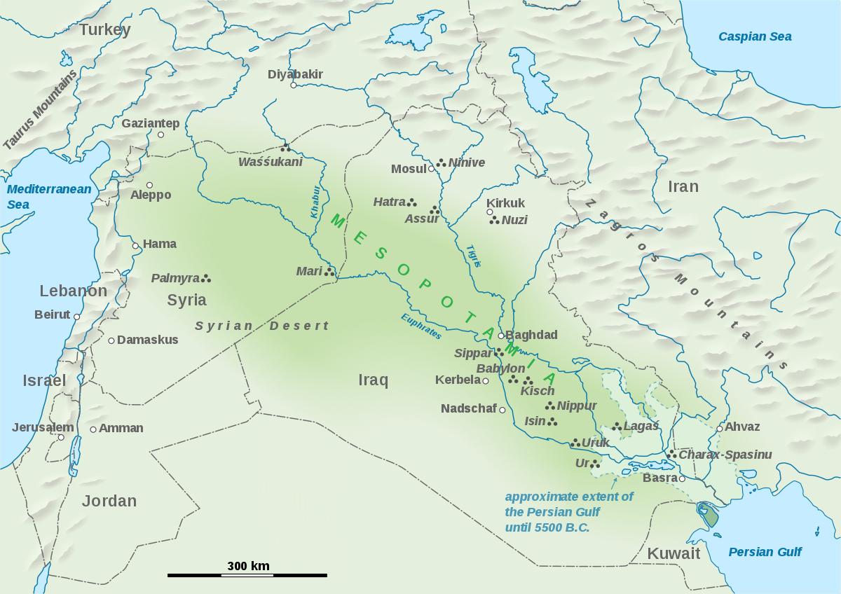 Mesopotamia - Wikipedia - Free Printable Map Of Mesopotamia