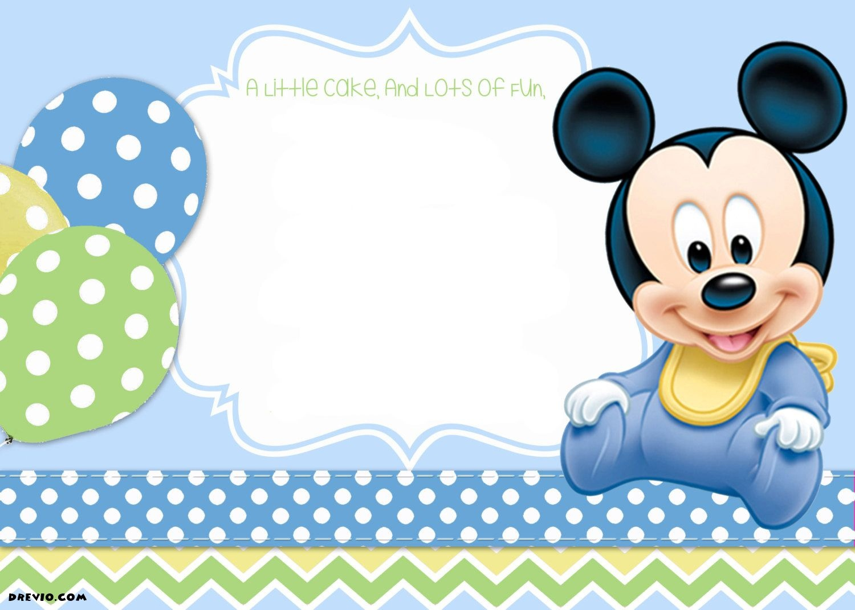 Mickey Mouse 1St Birthday | Tiago's Birthday | 1St Birthday - Free Printable Mickey Mouse 1St Birthday Invitations