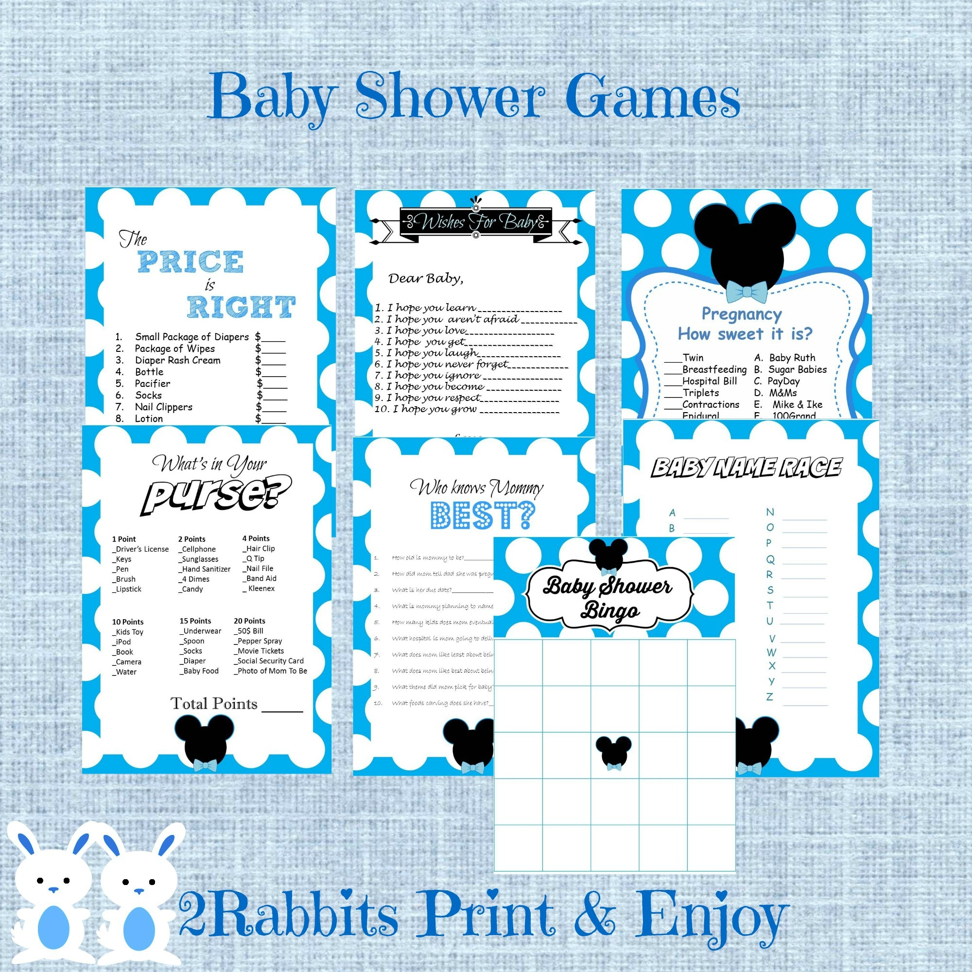 Mickey Mouse Babyshower Ideas - My Practical Baby Shower Guide - Free Printable Mickey Mouse Baby Shower Games