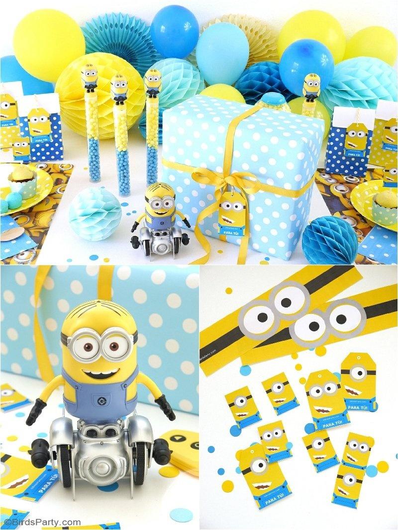 Minion Inspired Birthday Party Ideas & Free Printables - Party Ideas - Thanks A Minion Free Printable