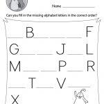 Missing Alphabet Letters Worksheet (Free Printable)   Doozy Moo   Free Printable Alphabet Letters
