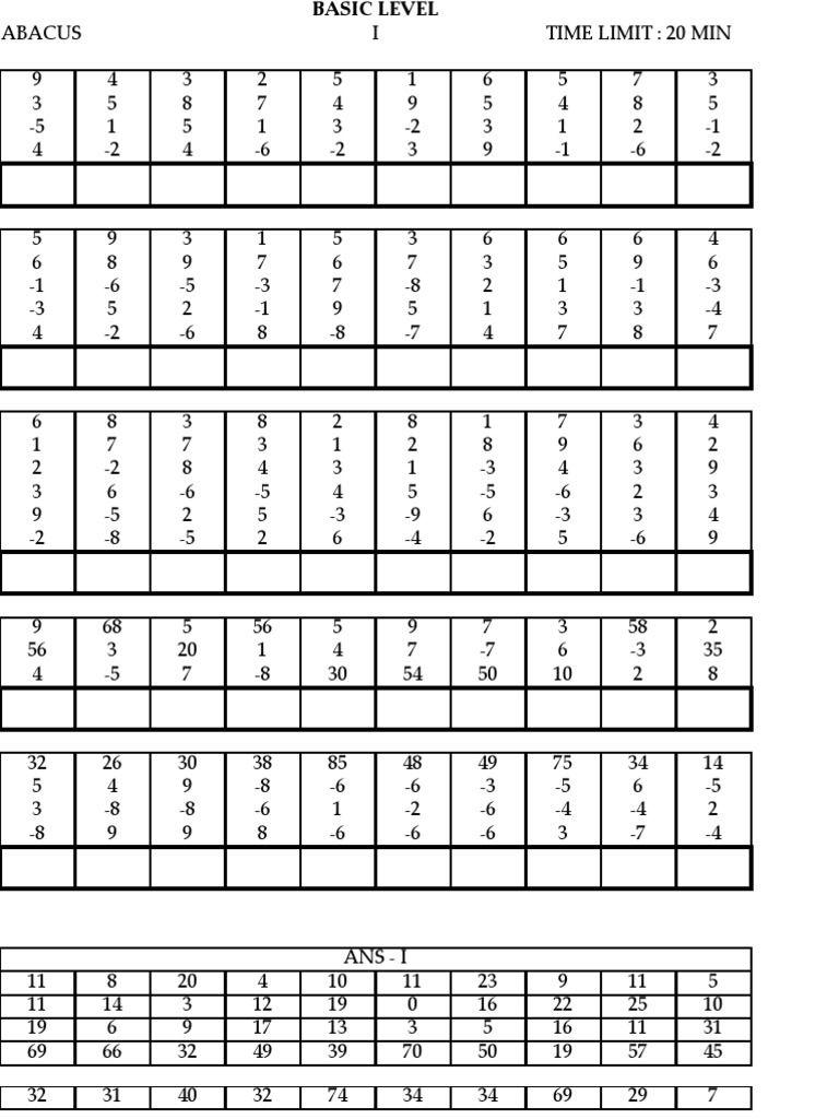 Model Paper | Educación Que Adoro | Math Sheets, Math Worksheets - Free Printable Abacus Worksheets
