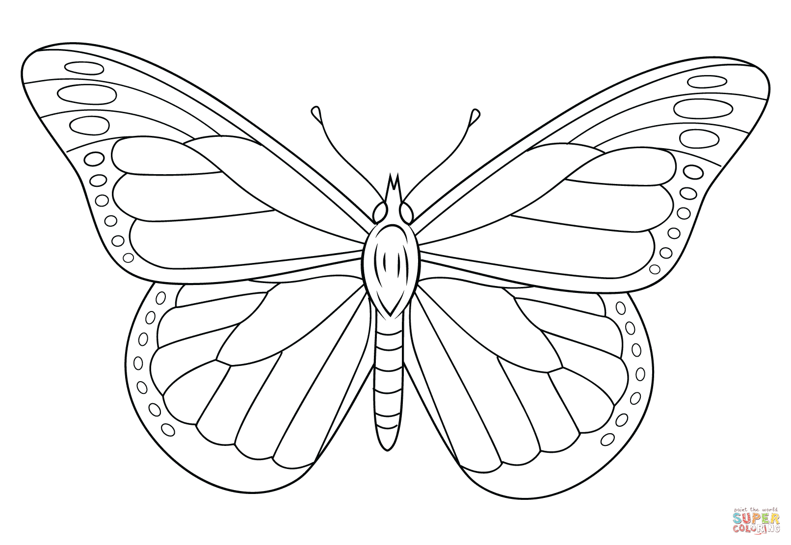 Monarch Butterfly Coloring Page   Free Printable Coloring Pages - Free Printable Butterfly